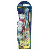 SmileGuard Spongebob Turbo Powermax Электрическая зубная щетка мягкая на батарейках, встроенная, от 6 лет.