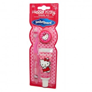 Hello Kitty Travel Kit HK-11 детская зубная щётка + зубная паста дорожный набор.
