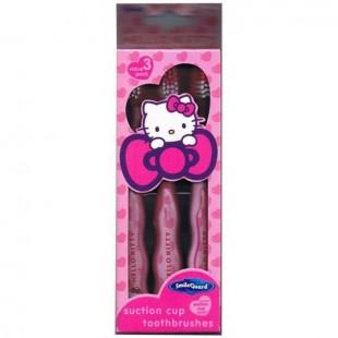 Hello Kitty HK-17 набор щеток (3шт) с резиновой вставкой от 3 лет, мягкая щетина