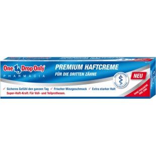 One Drop Only PREMIUM HAFTCREME крем для фиксации зубных протезов 40 г