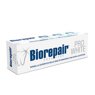 Biorepair PRO White отбеливающая восстанавливающая зубная паста (75мл)