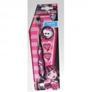 Monster High Toothbrush Witl Cap зубная щётка на присоске с защитным колпачком