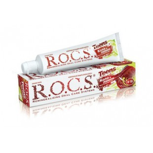 Зубная паста R.O.C.S. Teens Кола и Лимон (8-18 лет) 60 мл.