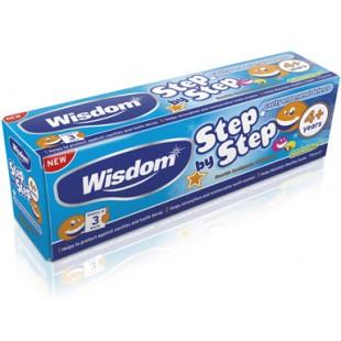 Зубная паста Wisdom Step by Step Cavity & Enamel defence fluoride от 4 лет 75ml