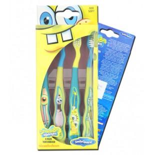 Spongebob Sb-9 набор щёток (4 шт.), мягкие, на присоске