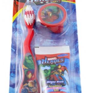 Marvel Heroes MH-3 набор, щётка с колпачком + паста