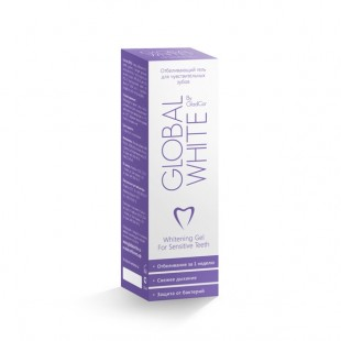 Отбеливающий гель для зубов Global White Gel Sensetive 15 мл.