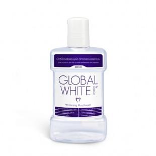 Global White отбеливающий ополаскиватель рта, против зубного камня и кариеса