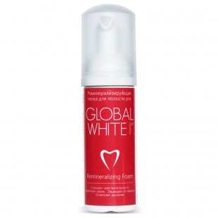 Global White реминерализирующая пенка для зубов со вкусом земляники и мяты, 50мл