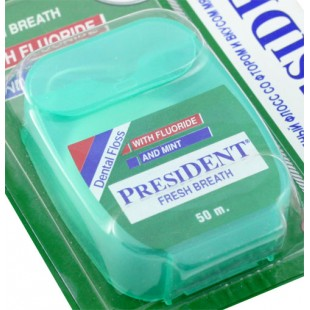 President Dental Floss Fresh Breath 50 м. свежее дыхание