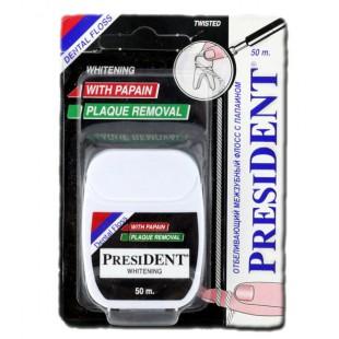 President Dental Floss Whitening 50 м. отбеливание