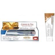 White Glo для любителей кофе и чая с зубной щеткой, 100 мл.