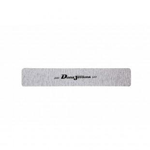 Dona Jerdona пилка для искусственных ногтей 100/120 прямая широкая серая