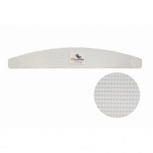 Dona Jerdona пилка для искусственных ногтей 60/60 сетчатая полукруглая белая