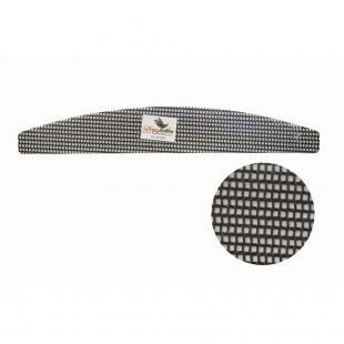 Dona Jerdona пилка для искусственных ногтей 60/60 сетчатая полукруглая черная