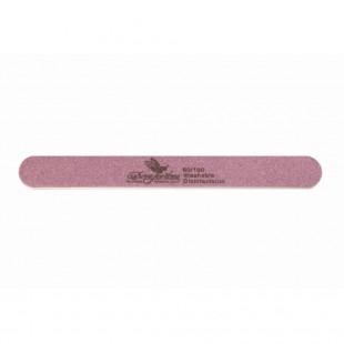Dona Jerdona пилка для искусственных ногтей 80/100 овальная узкая сиреневая
