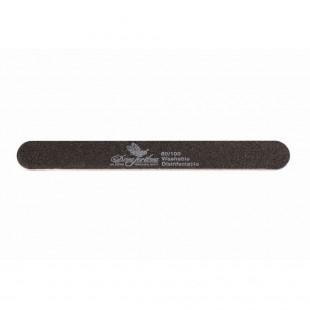 Dona Jerdona пилка для искусственных ногтей 80/100 овальная узкая черная
