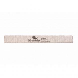 Dona Jerdona пилка для искусственных ногтей 80/120 прямоугольная узкая серая