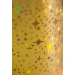 Dona Jerdona фольга 1.5 м голография золотая звездочки