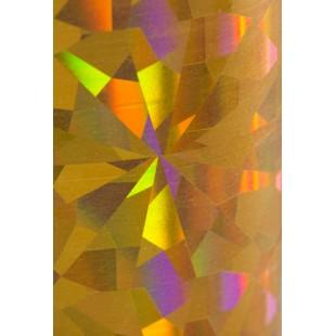 Dona Jerdona фольга 1.5 м голография золотая колейдоскоп крупный