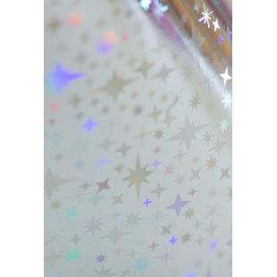 Dona Jerdona фольга 1.5 м голография серебристая звездочки