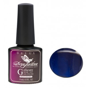 Dona Jerdona Гель-лак Delux Gelicure №137 dark violin blue 100802