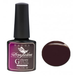 Dona Jerdona Гель-лак Delux Gelicure №169 deep brown 100834