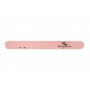 Dona Jerdona Пилка для искусственных и натуральных ногтей 120/180 овальная узкая розовая 100419