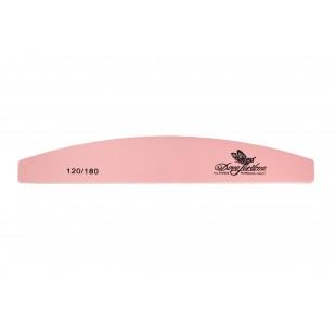 Dona Jerdona Пилка для искусственных и натуральных ногтей 120/180 полукруглая розовая 100421