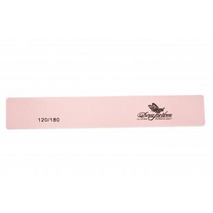 Dona Jerdona Пилка для искусственных и натуральных ногтей 120/180 прямоуг. широкая розовая 100418