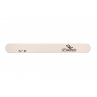 Dona Jerdona пилка для искусственных и натуральных ногтей 80/180 овальная узкая белая 100424