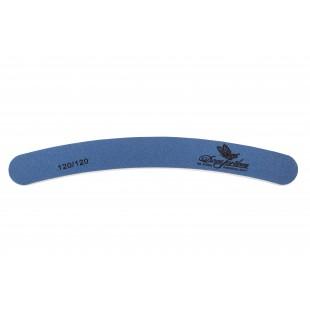 Dona Jerdona пилка для искусственных ногтей 120/120 бумеранг синяя 100412