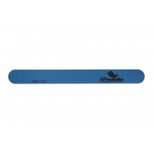 Dona Jerdona пилка для искусственных ногтей 120/120 овальная узкая синяя 100409