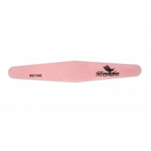 Dona Jerdona пилка для искусственных ногтей 80/100 ромб розовая 100400