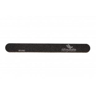 Dona Jerdona пилка для искусственных ногтей 80/80 овальная узкая черная 100394