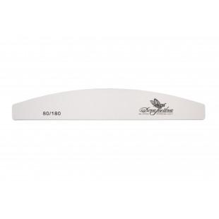 Dona Jerdona пилка для натуральных и искусственных ногтей 80/180 полукруглая белая 100426