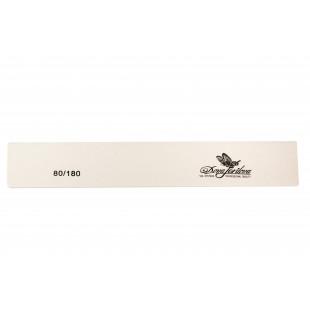 Dona Jerdona пилка для натуральных и искусственных ногтей 80/180 прямоугольная широкая белая 100423