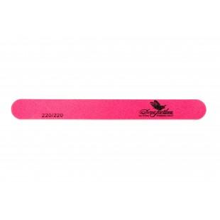 Dona Jerdona пилка для натуральных ногтей 220/220 овальная узкая розовая 101207