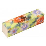 Dona Jerdona Баф шлифовочный зеленый в цветочек 100451