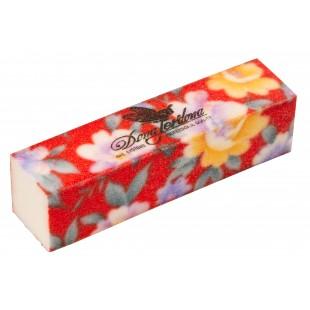 Dona Jerdona Баф шлифовочный красный в цветочек 100453