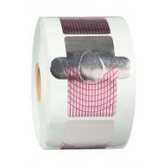 Dona Jerdona Одноразовая форма для наращивания ногтей серебристо-розовая большая (500шт)