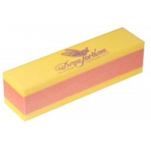 Dona Jerdona Баф шлифовочный двухсторонний желтый/оранжевый