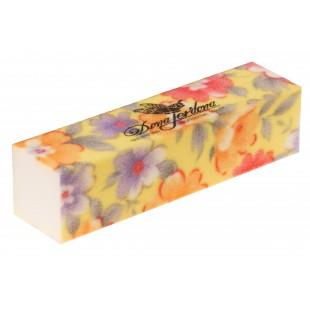 Dona Jerdona Баф шлифовочный желтый с цветочками 100687