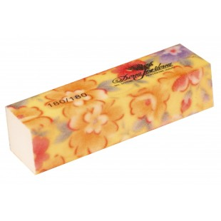 Dona Jerdona Баф шлифовочный желтый с цветочками 180/180 100443